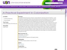 A Practical Experiment in Colonization Lesson Plan