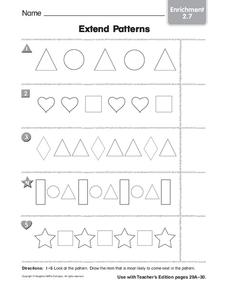 Extend Patterns Worksheet