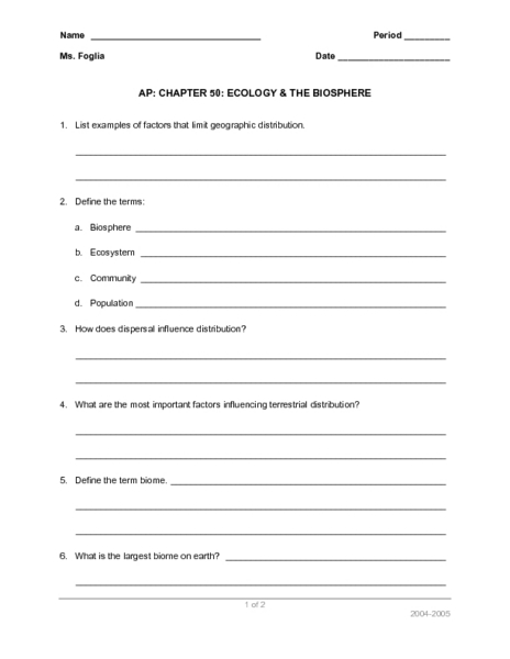 This is a graphic of Free Printable Ecosystem Worksheets inside 5th grade