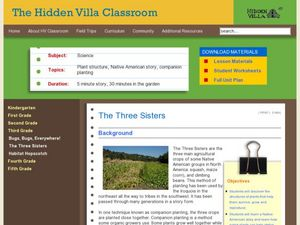 The Three Sisters Lesson Plan