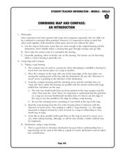 Combining Map and Compass Lesson Plan