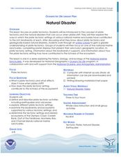 Natural Disaster Lesson Plan