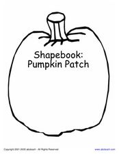 Shapebook: Pumpkin Patch Worksheet