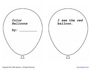 Color Balloons Worksheet