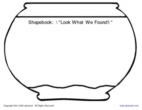 "Shapebook: ""Look What We Found!"" Worksheet"