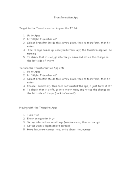 Transformation Functions Worksheet For 9th 12th Grade
