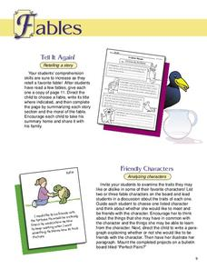 Fables Worksheet