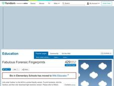 Fabulous Forensic Fingerprints Lesson Plan