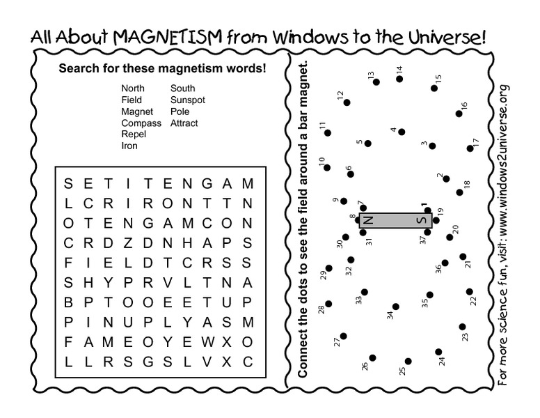 Magnetism Worksheets For Kids carolinabeachsurfreport – Magnet Worksheet