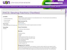 FACS: Sewing Factory (Textiles) Lesson Plan