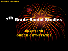 7th Grade Social Studies: Chapter 10, Greek City-States Lesson Plan