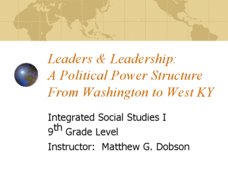 Leaders & Leadership: A Political Power Structure from Washington to West KY Lesson Plan