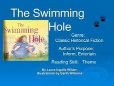 The Swimming Hole by Laura Ingalls Wilder Presentation