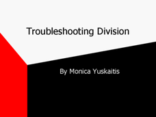 Troubleshooting Division PowerPoint Presentation