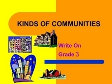 Kinds of Communities: Write On Grade 3 Presentation