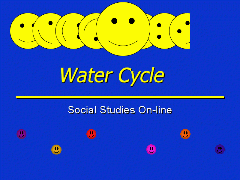Water Cycle: Social Studies Online Presentation