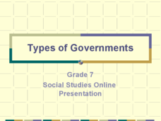 Types of Government Presentation