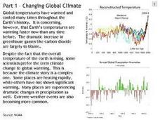Changing Global Climate Presentation