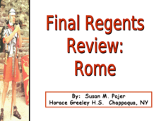 Final Regents Review: Rome Presentation