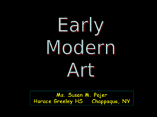 Early Modern Art Presentation