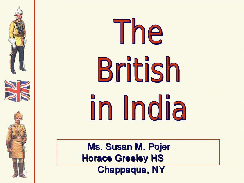 The British in India Presentation