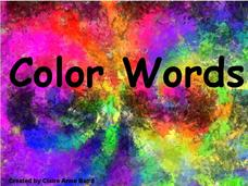 Color Words Presentation