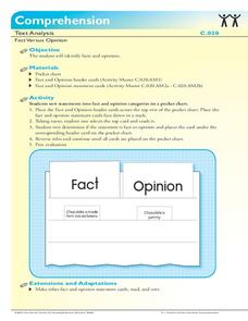 Fact Versus Opinion Activities & Project