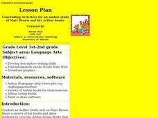 Marc Brown Lesson Plans & Worksheets Reviewed by Teachers