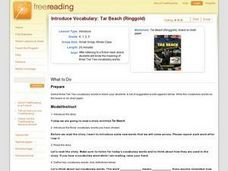 Introduce Vocabulary: Tar Beach  Lesson Plan