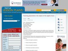 Factoring Polynomials Lesson Plan