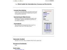 Web Guide for Introductory Lesson on Electricity Lesson Plan