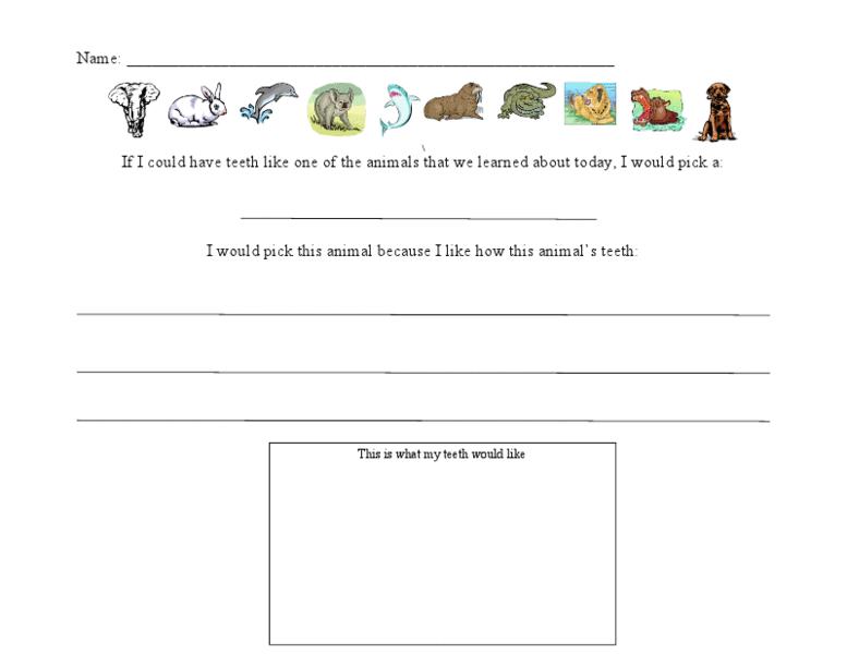 animal teeth worksheet for 1st 2nd grade lesson planet. Black Bedroom Furniture Sets. Home Design Ideas