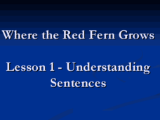 Where the Red Fern Grows: Understanding Sentences Lesson Plan