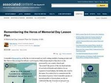 Remembering the Heroes of Memorial Day Lesson Plan
