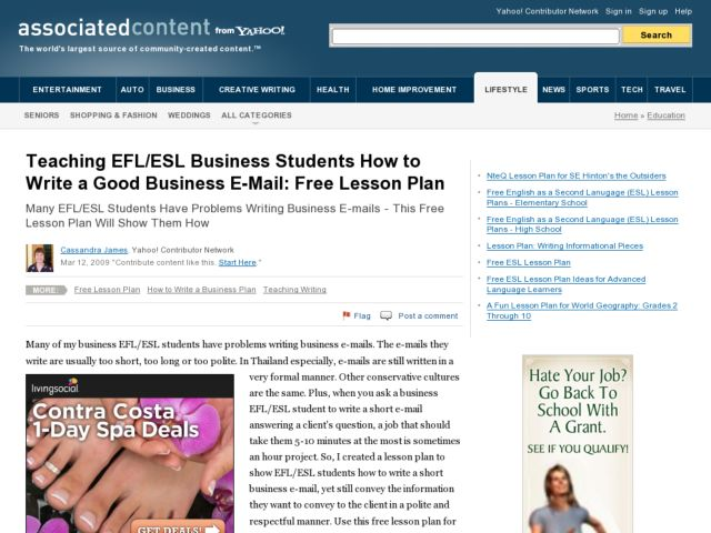 How to Write a Good Business E-Mail Lesson Plan