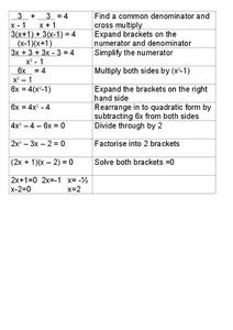 Factoring Quadratics Lesson Plan