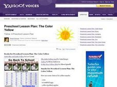 Preschool Lesson: The Color Yellow Lesson Plan
