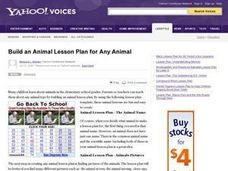 Animal Lesson Plan Lesson Plan