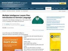 Introduction to German Language Lesson Plan