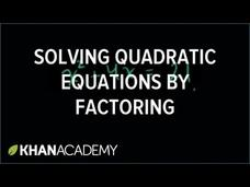 Factoring Special Products Video