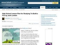 "Studying ""To Build A Fire"" by Jack London Lesson Plan"