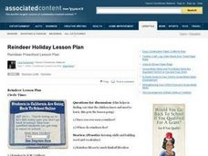 Reindeer Holiday Lesson Plan