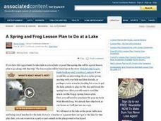 A Spring and Frog Lesson Plan to Do at a Lake Lesson Plan