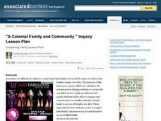 """A Colonial Family and Community"" Lesson Plan"