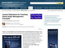 Anger Management Concepts Lesson Plan
