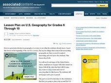 U.S. Geography Review Lesson Plan