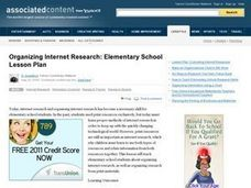 Organizing Internet Research Lesson Plan