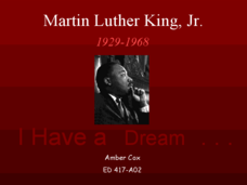 Martin Luther King, Jr. Presentation