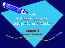 A Closer Look at Subjects and Verbs Presentation