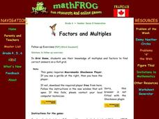 Factors and Multiples Lesson Plan